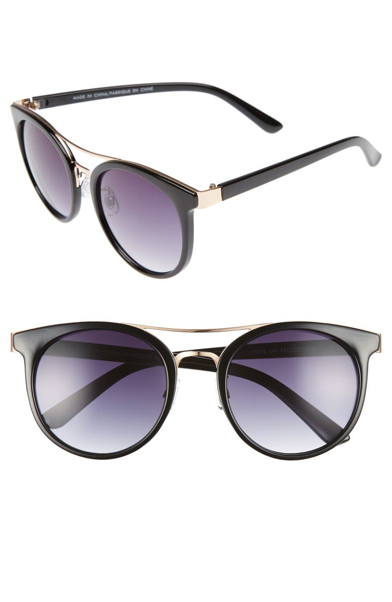 BP. String Theory 60mm Round Sunglasses, Main, color, 001