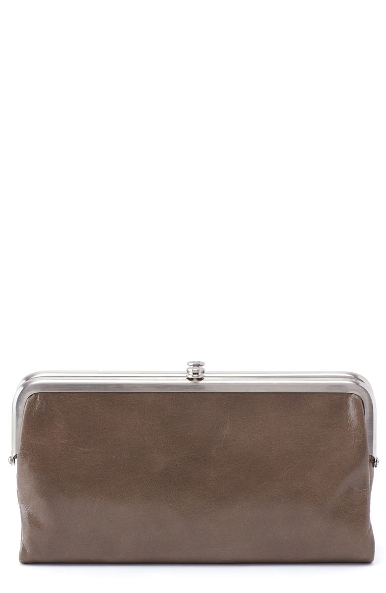 HOBO Lauren Double Frame Clutch, Main, color, SHADOW