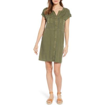 Petite Caslon Utility Dress, Green