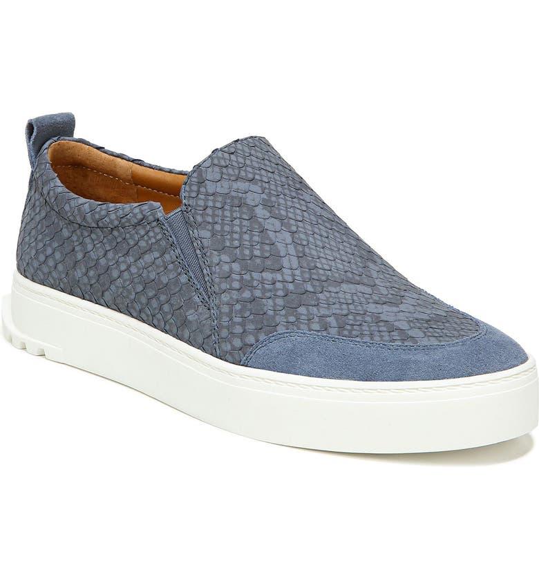 SARTO BY FRANCO SARTO Dannon Platform Slip-On Sneaker, Main, color, DENIM SNAKE PRINT LEATHER