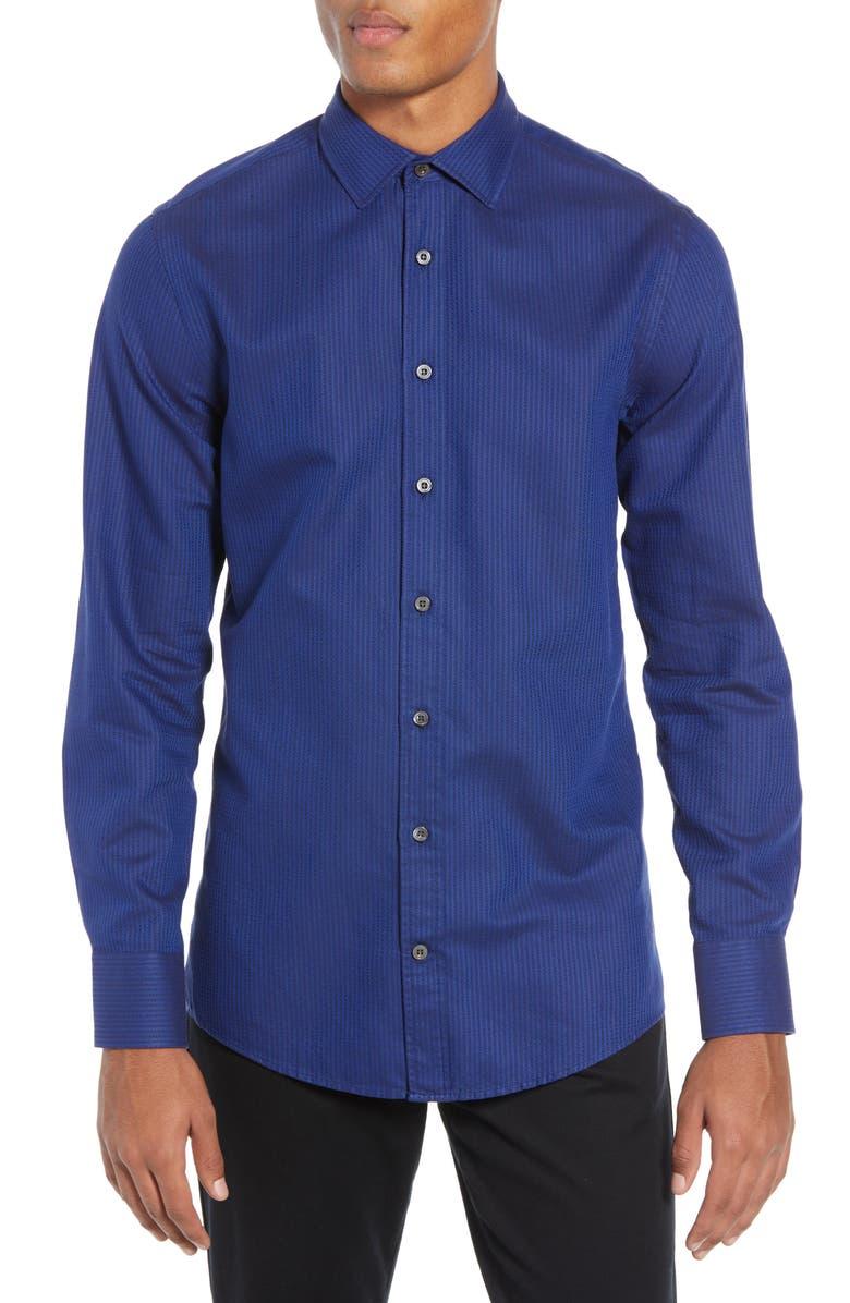 TIGER OF SWEDEN Fridolf Extra Slim Fit Stripe Dress Shirt, Main, color, 400
