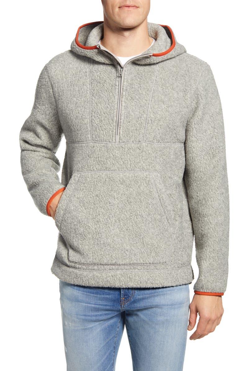 MADEWELL Polartec<sup>®</sup> Fleece Hoodie Jacket, Main, color, 020