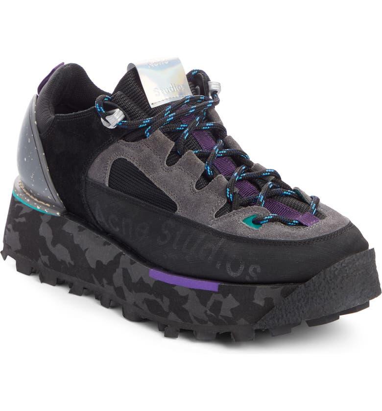 ACNE STUDIOS Berton Sneaker, Main, color, MULTI BLACK