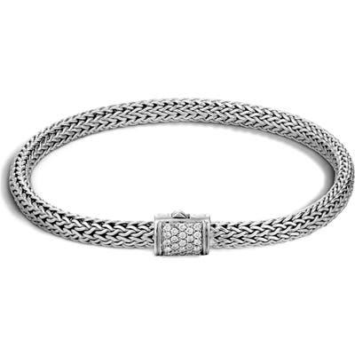 John Hardy Classic Chain 5Mm Diamond Bracelet