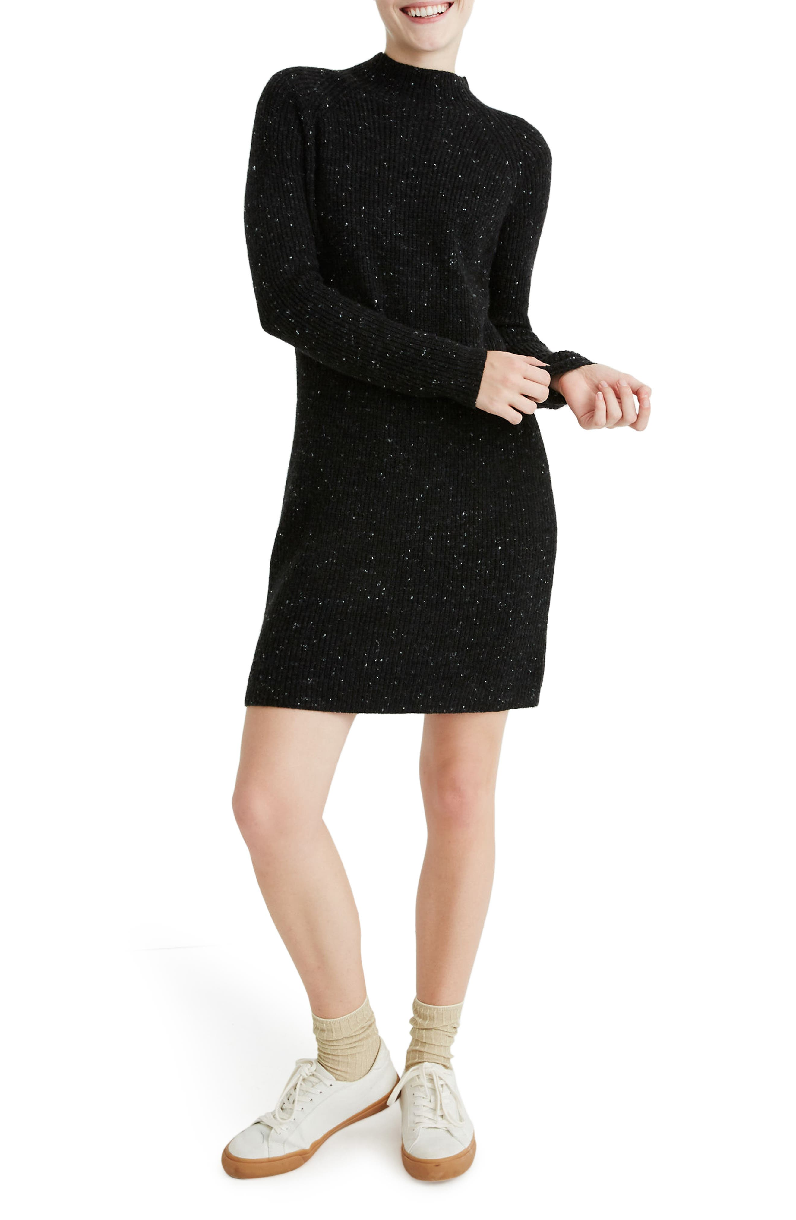 Madewell Donegal Rolled Mock Neck Sweater Dress