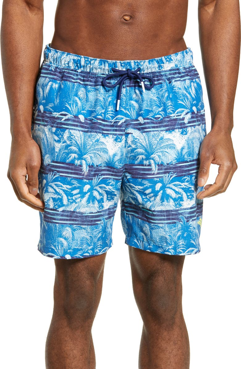 TOMMY BAHAMA Naples Primo Palms Swim Trunks, Main, color, ISLAND NAVY