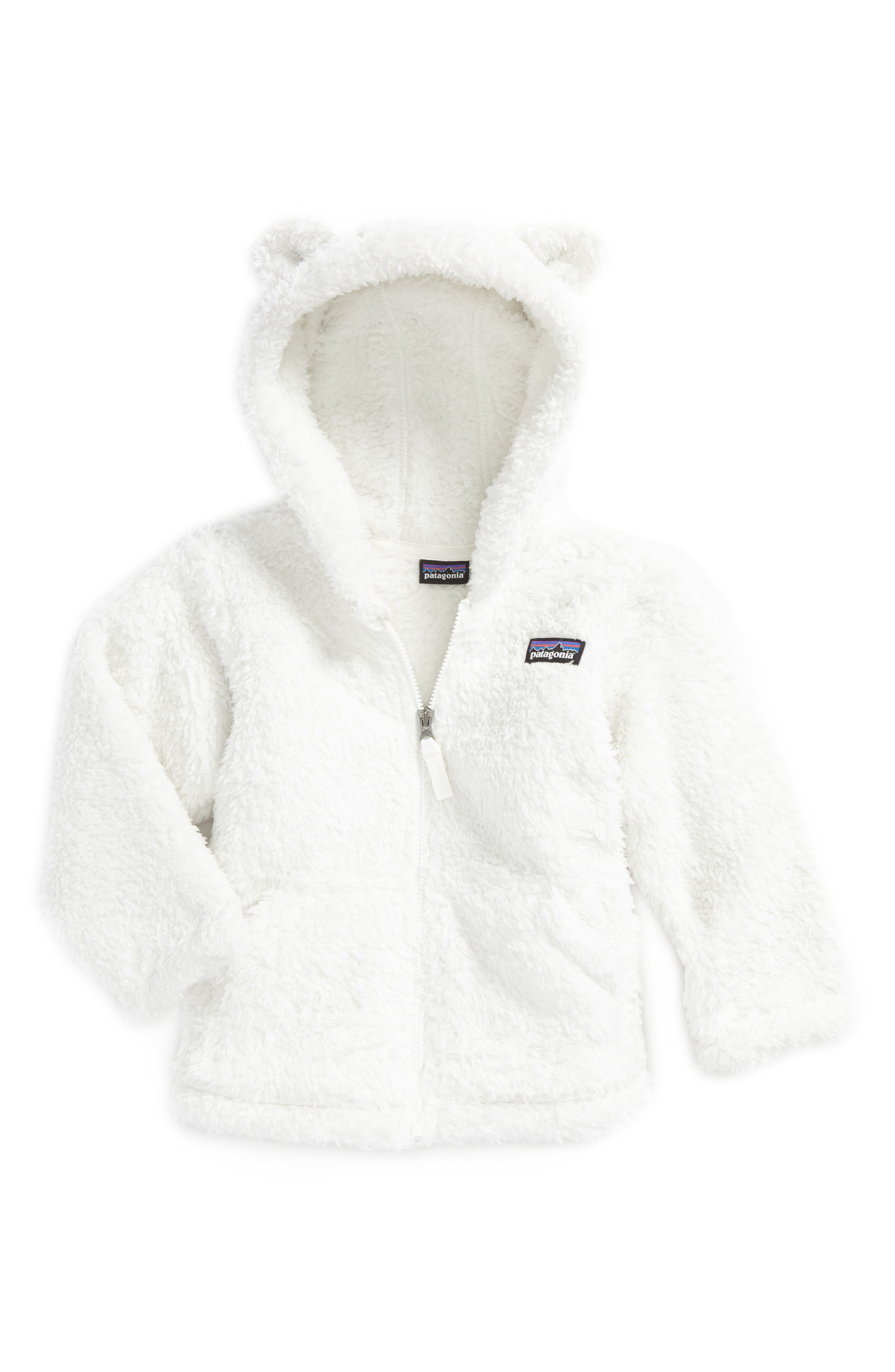 Toddler Girls Patagonia Furry Friends Fleece Hoodie Size 3T  White