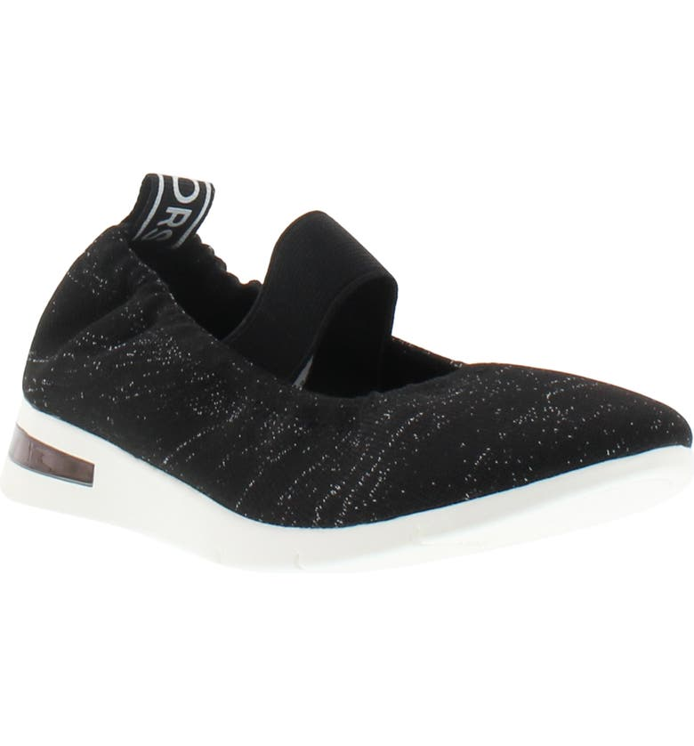 MICHAEL MICHAEL KORS Skim Boarder Sparkle Knit Mary Jane Flat, Main, color, BLACK