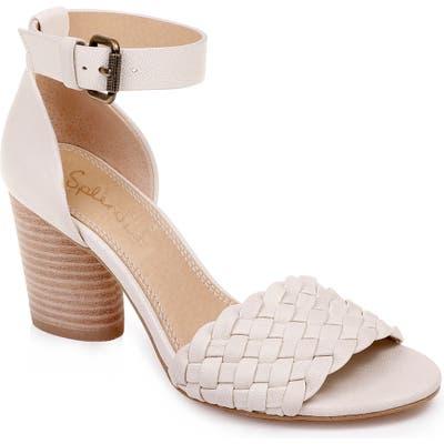 Splendid Taro Woven Ankle Strap Sandal- Ivory