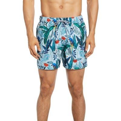 Ted Baker London Borrla Slim Fit Swim Trunks, Blue