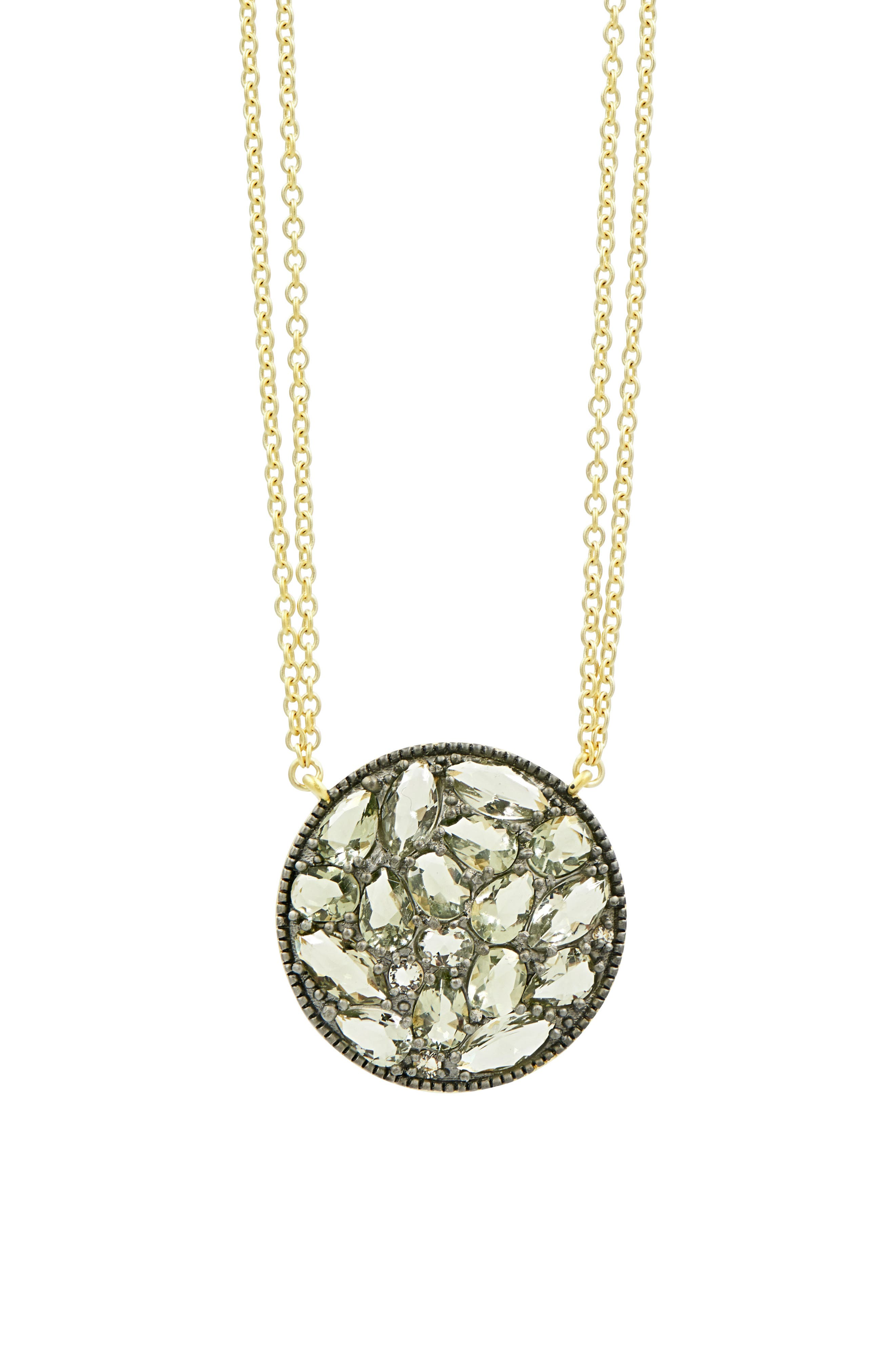 Image of Freida Rothman Rose Dor Disc Pendant Necklace