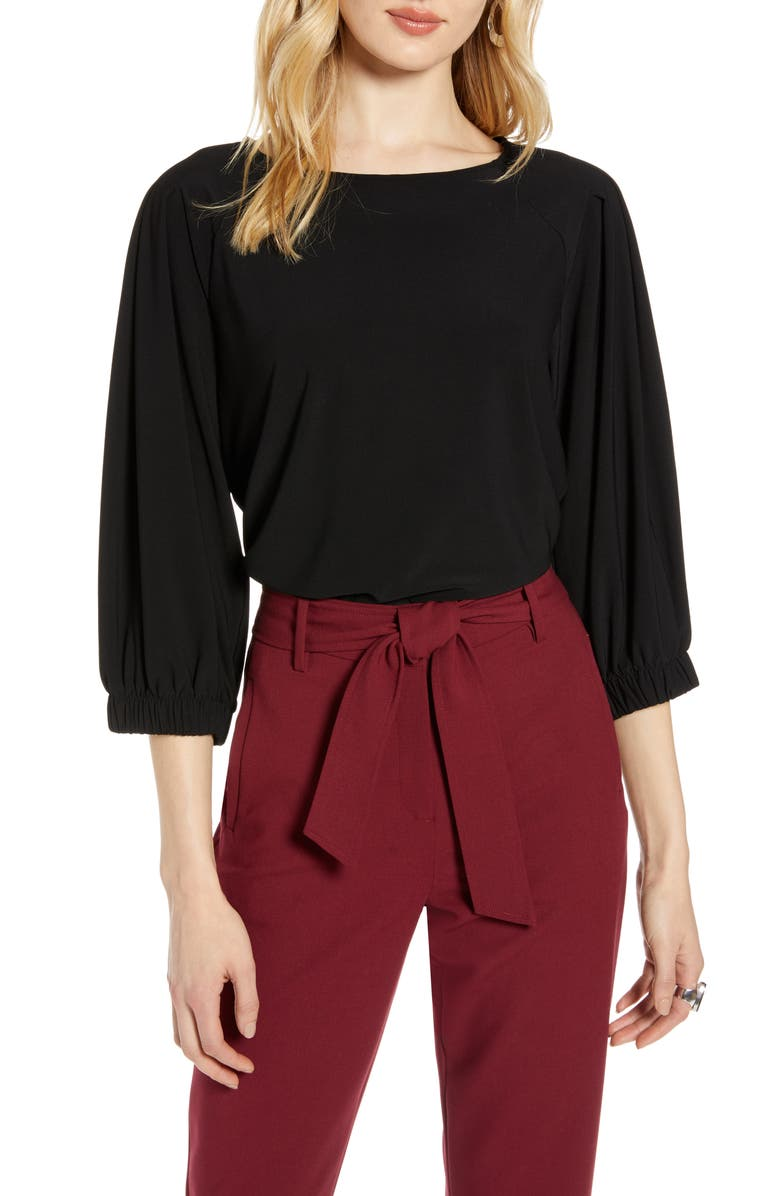 Banded Sleeve Knit Top by Halogen®