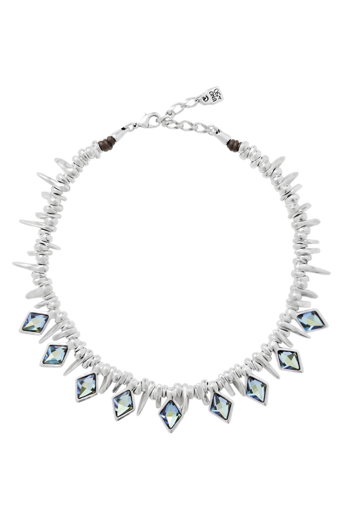 Image of Uno De 50 Stalactite Diamond Shape Bezel Set Swarovski Element Accented Collar Necklace