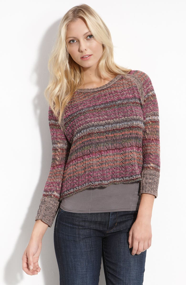 FREE PEOPLE 'Lost in the Forest' Crop Pullover, Main, color, 650