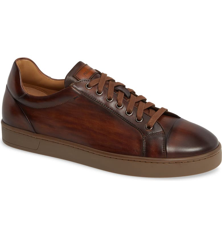 MAGNANNI Caitin Sneaker, Main, color, TABACO LEATHER