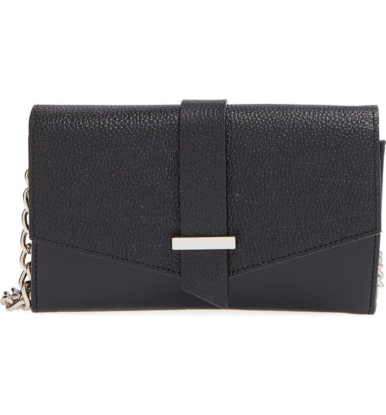 HALOGEN<SUP>®</SUP> 'Belltown' Leather Crossbody Bag, Main, color, 001