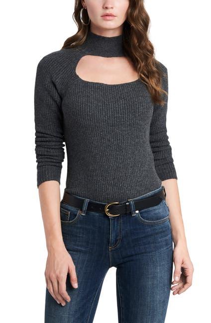 Image of 1.State Keyhole Mock Neck Sweater