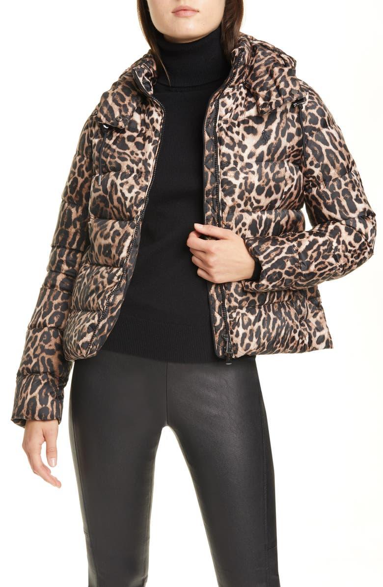POLO RALPH LAUREN Leopard Print Down Jacket, Main, color, LEOPARD PRINT