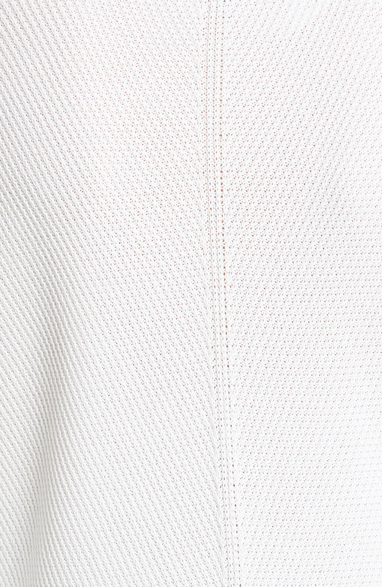 ,                             Chevron Rib Sweater,                             Alternate thumbnail 5, color,                             WHITE
