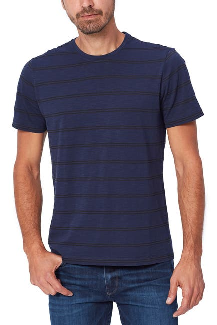 Image of PAIGE Hoover Striped Crew Neck T-Shirt