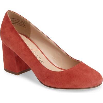 Sole Society Lola Block Heel Pump- Red