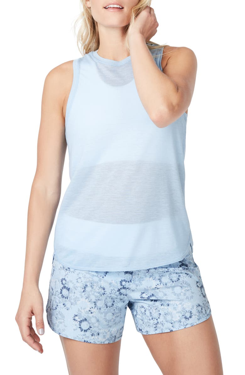 SWEATY BETTY Pacesetter Run Tank, Main, color, INFINITY BLUE