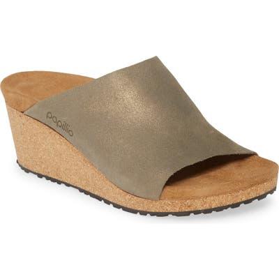 Birkenstock Namica Wedge Slide Sandal, Green