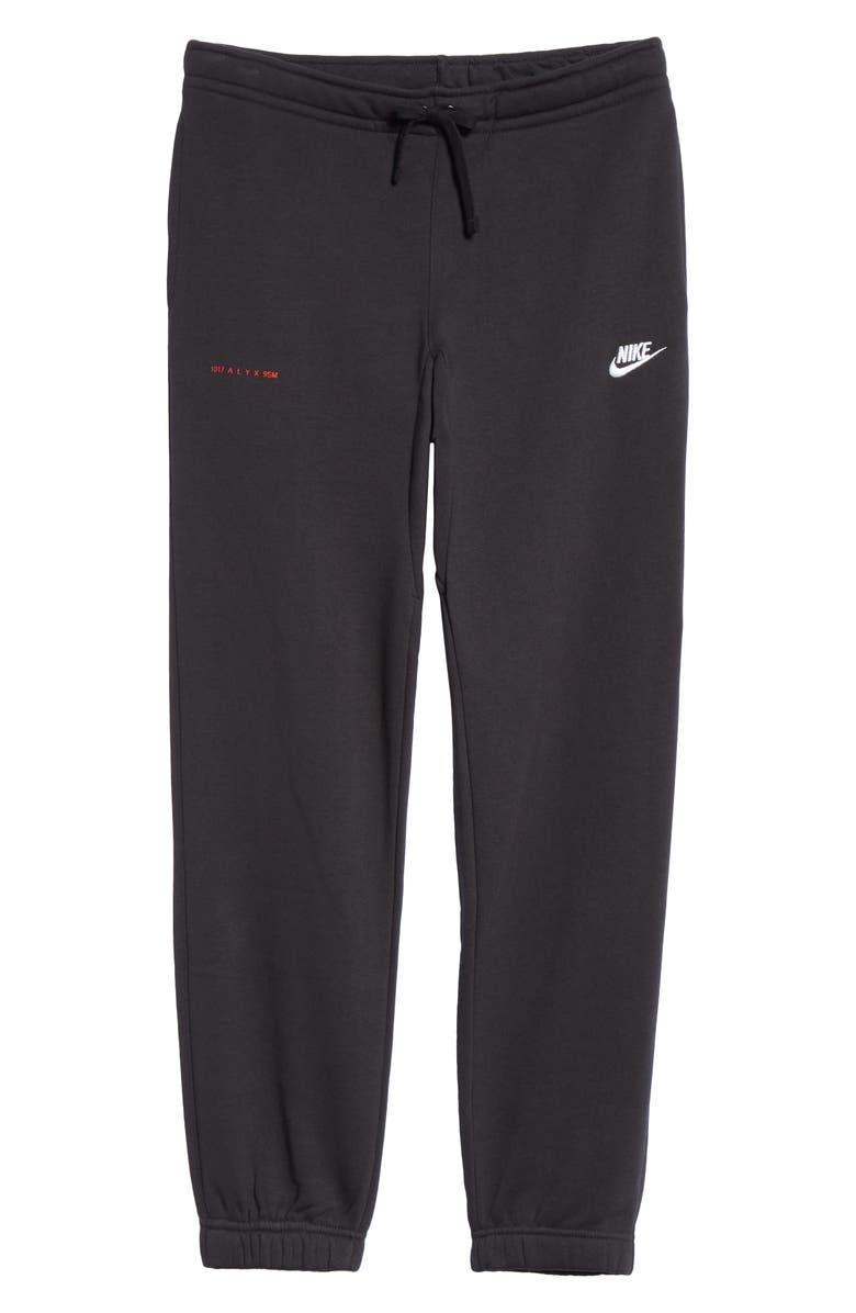 1017 ALYX 9SM x Nike Embroidered Sweatpants, Main, color, BLACK