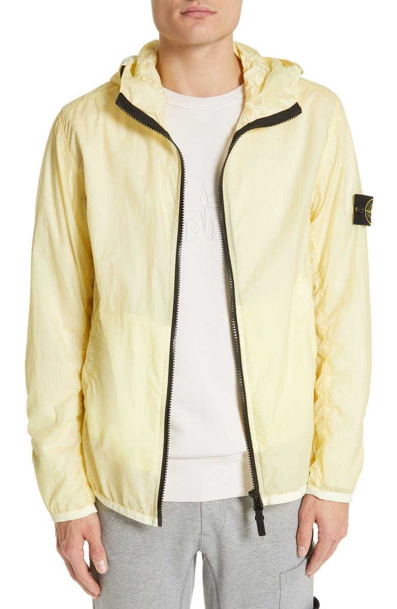 STONE ISLAND Laminated Nylon Jacket, Main, color, 700
