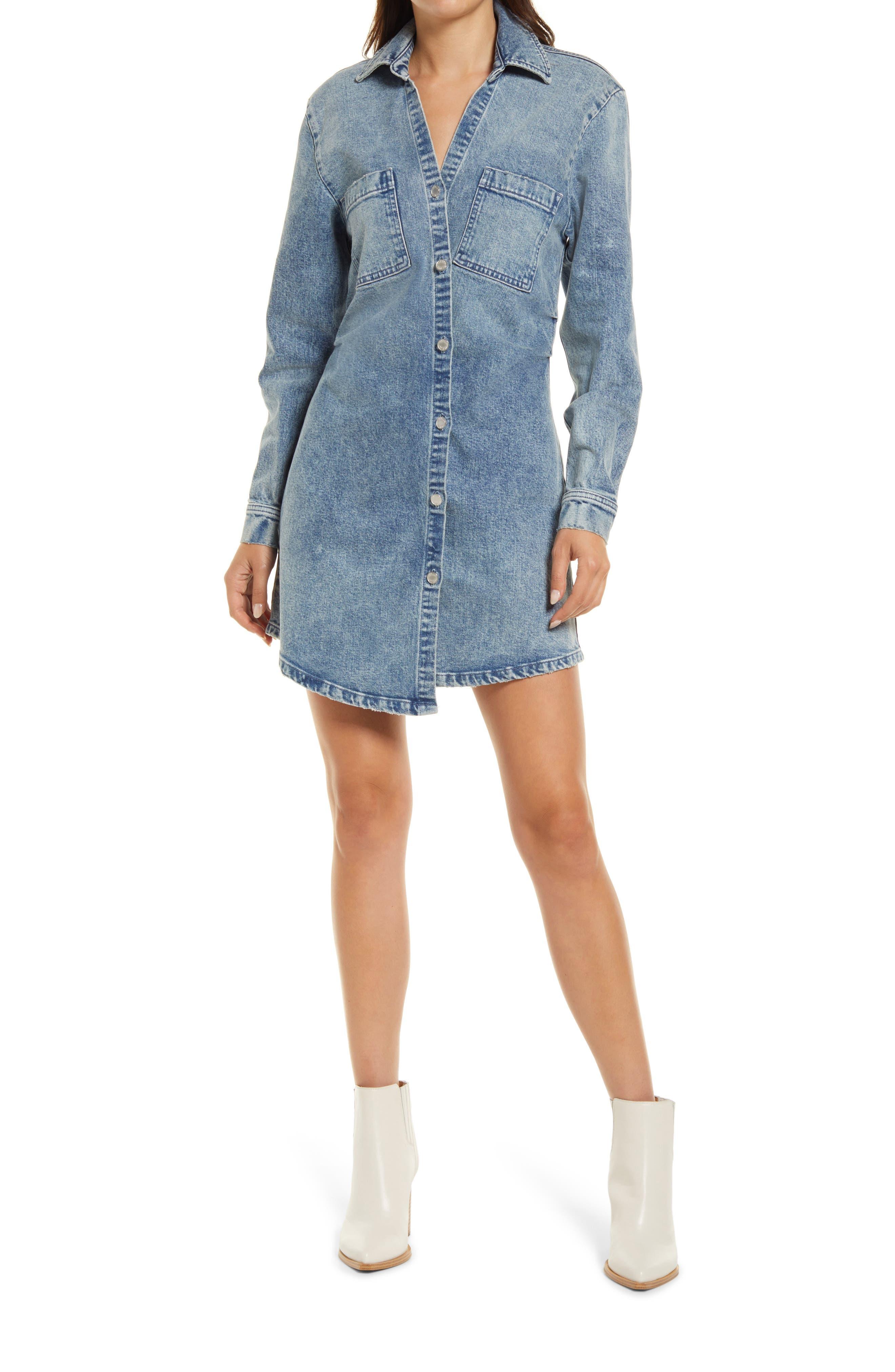 Eliza Denim Long Sleeve Shirtdress