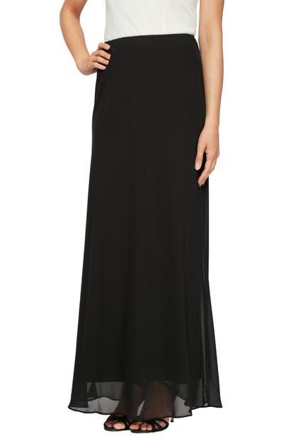 Alex Evenings Maxi Skirt, Regular & Petite Sizes In Black