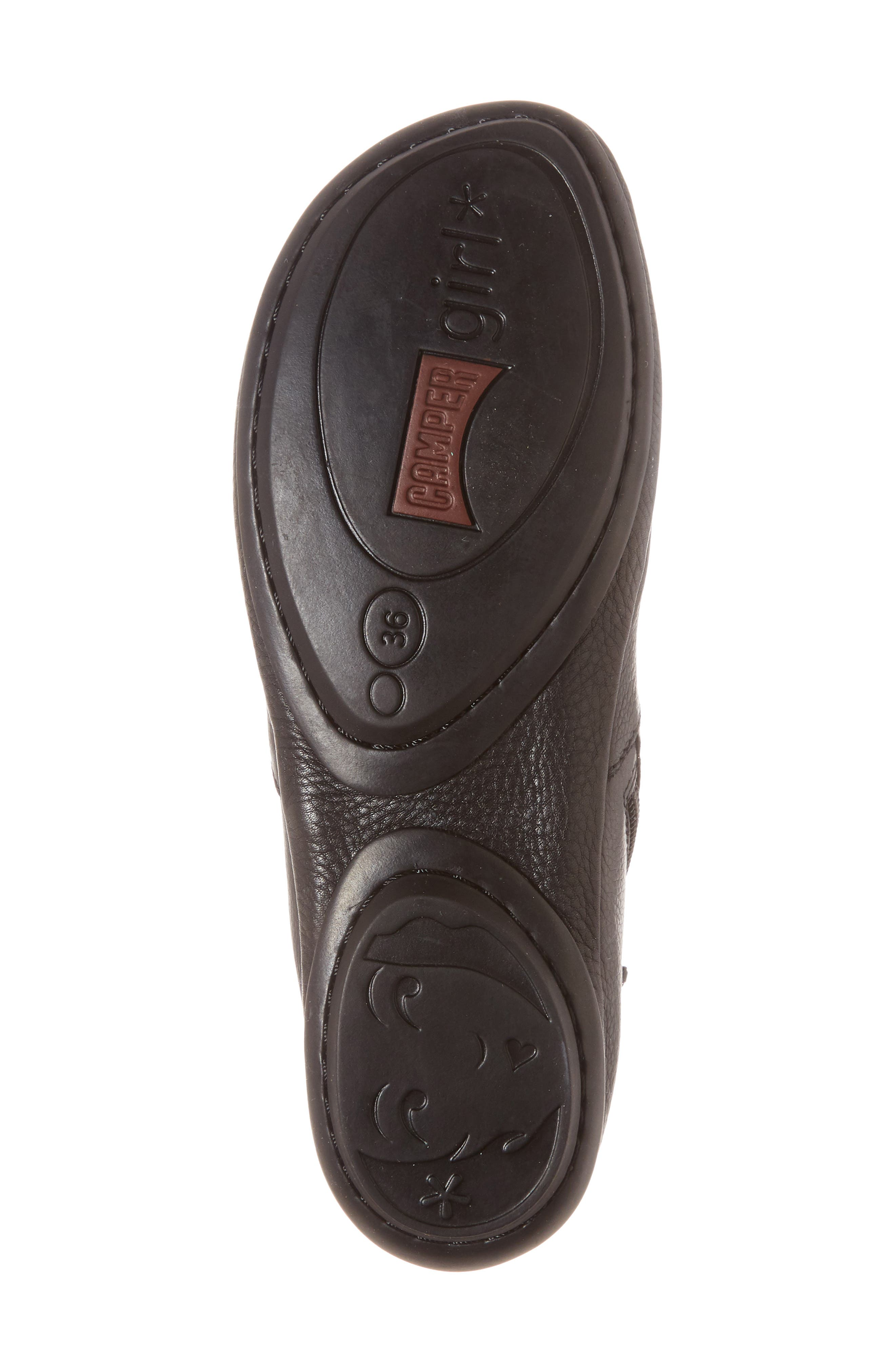 ,                             Right Nina Bootie,                             Alternate thumbnail 6, color,                             BLACK LEATHER