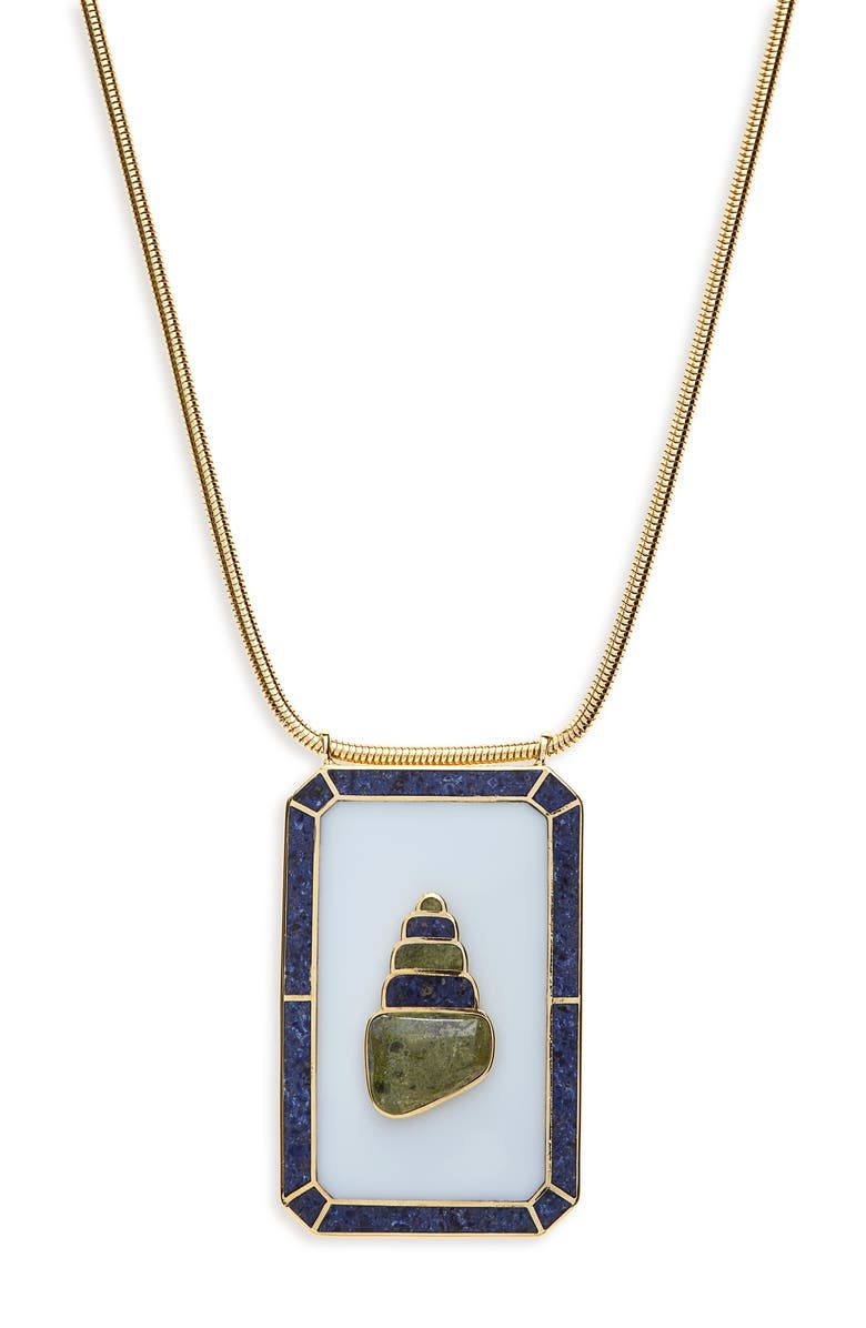 MONICA SORDO Samay Escapular Pendant Necklace, Main, color, WHITE/ DUMORTIERITE/ UNAKITE