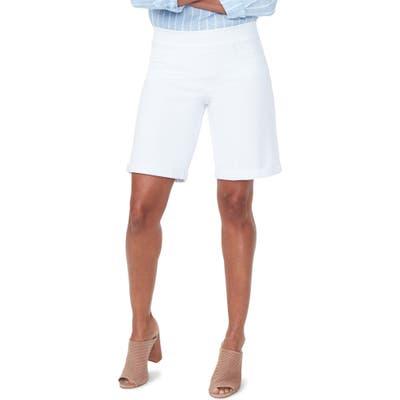 Nydj Roll Cuff Pull-On Denim Shorts, White