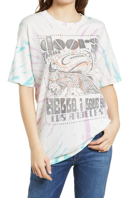 Daydreamer Cottons THE DOORS HELLO I LOVE YOU TIE DYE GRAPHIC TEE