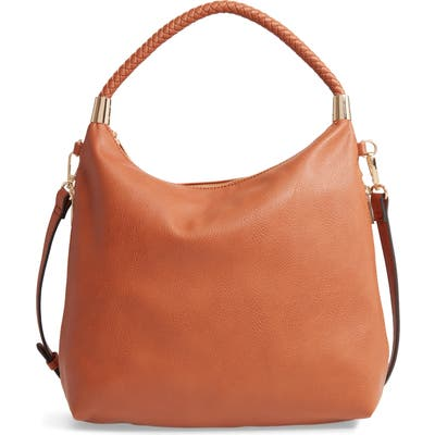 Sole Society Dunne Faux Leather Crossbody Bag - Brown