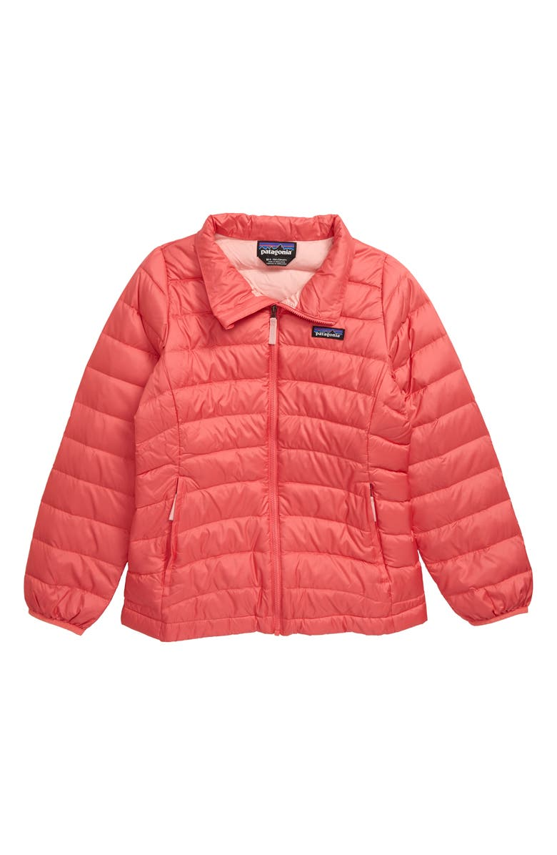 PATAGONIA Quilted Down Jacket, Main, color, RAPI RANGE PINK