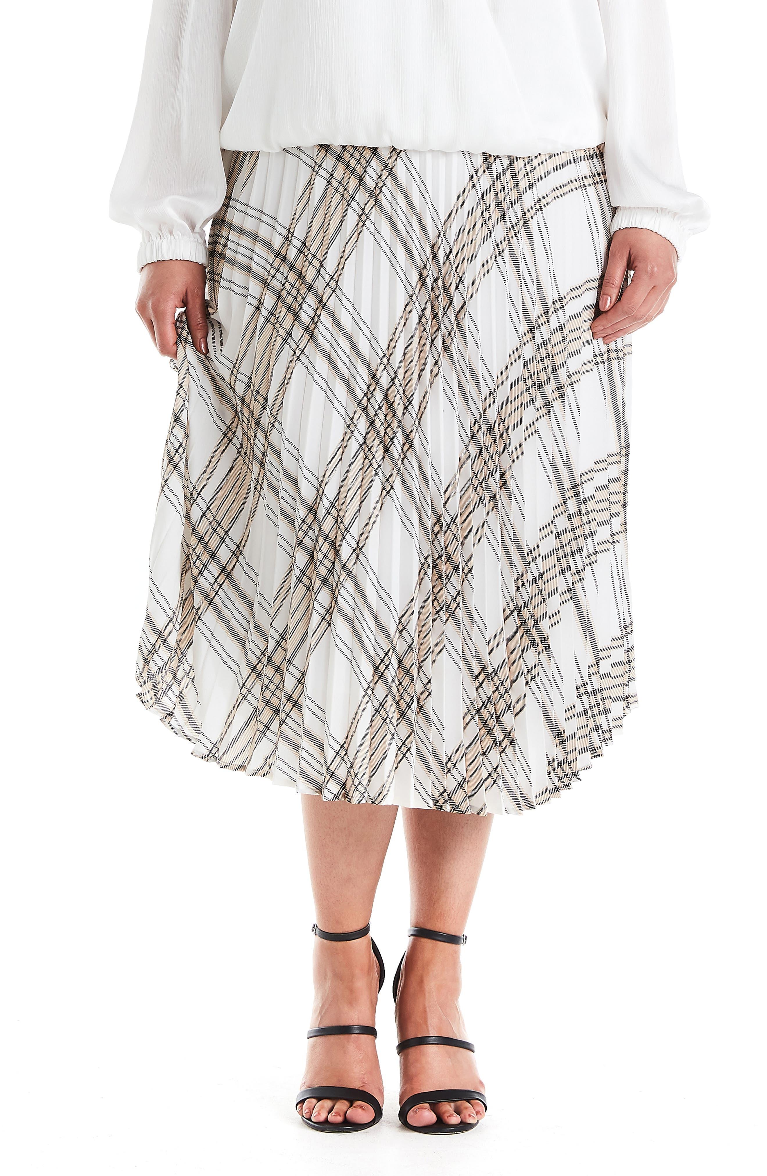Audrey Print Midi Skirt