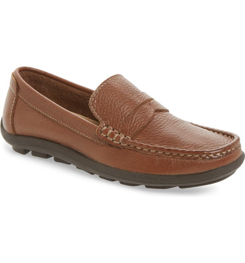 1901 Penny Loafer Driving Shoe, Main, color, BROWN LEATHER