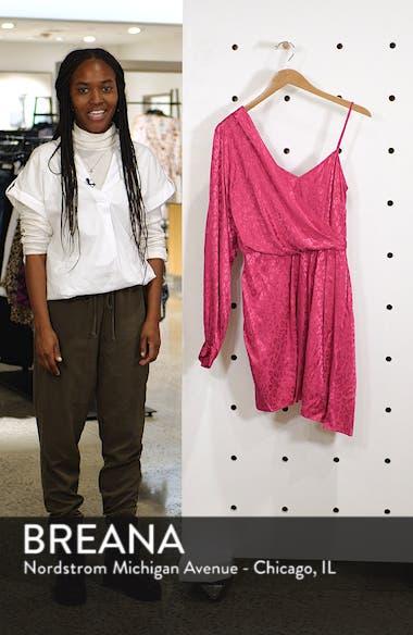 One-Shoulder Drop Jacquard Dress, sales video thumbnail