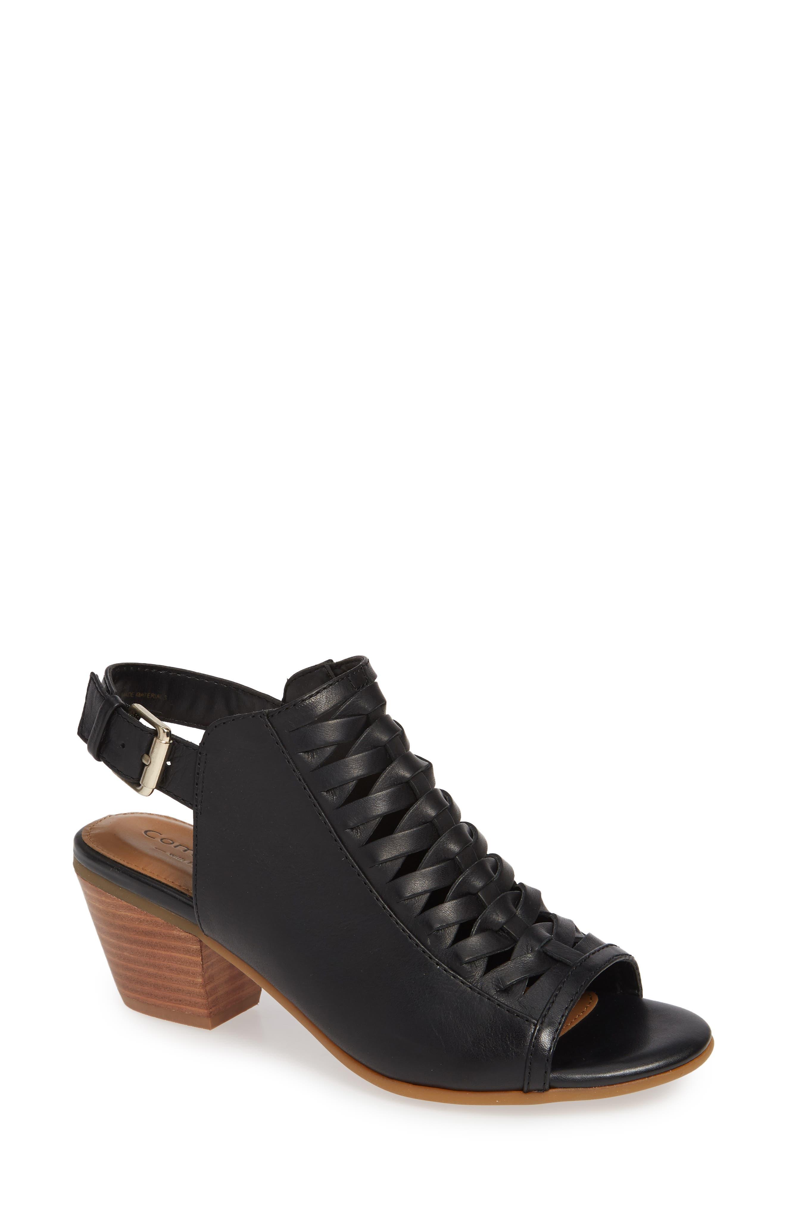 Comfortiva Alanna Leather Sandal- Black