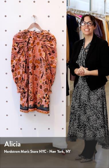 Devya Floral Long Balloon Sleeve Shift Dress, sales video thumbnail