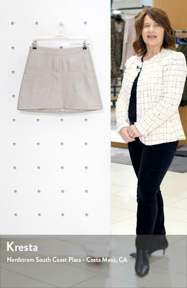 Marrie Leather Miniskirt, sales video thumbnail