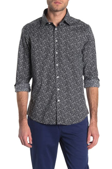 Image of Stone Rose Floral Print Regular Fit Shirt