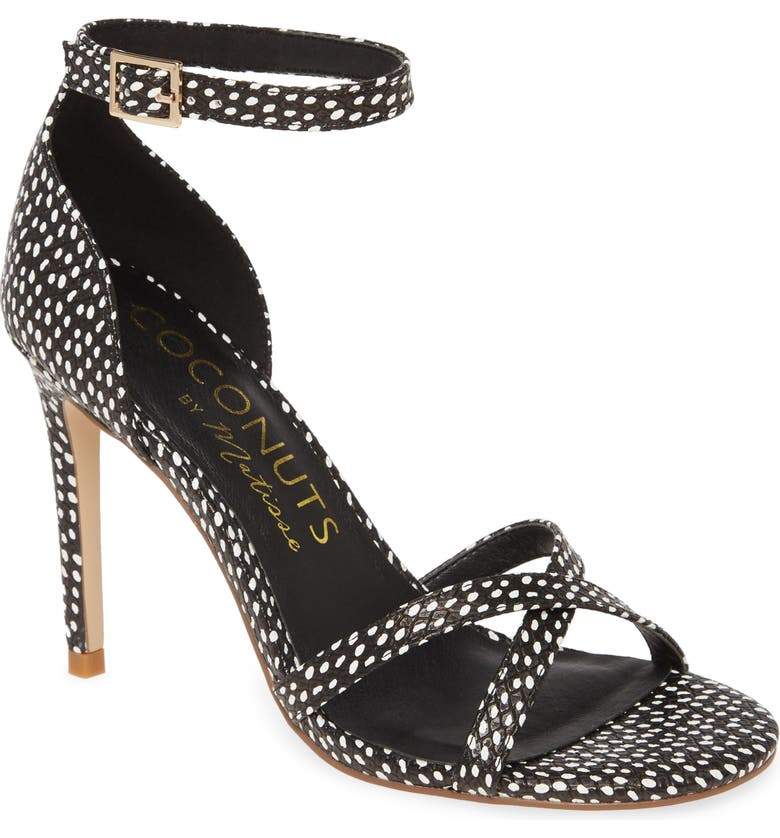COCONUTS BY MATISSE Inside Out Sandal, Main, color, BLACK SPOT FAUX LEATHER