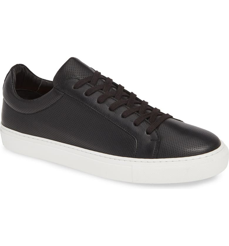 SUPPLY LAB Damian Lace-Up Sneaker, Main, color, BLACK PERFORATED LEATHER