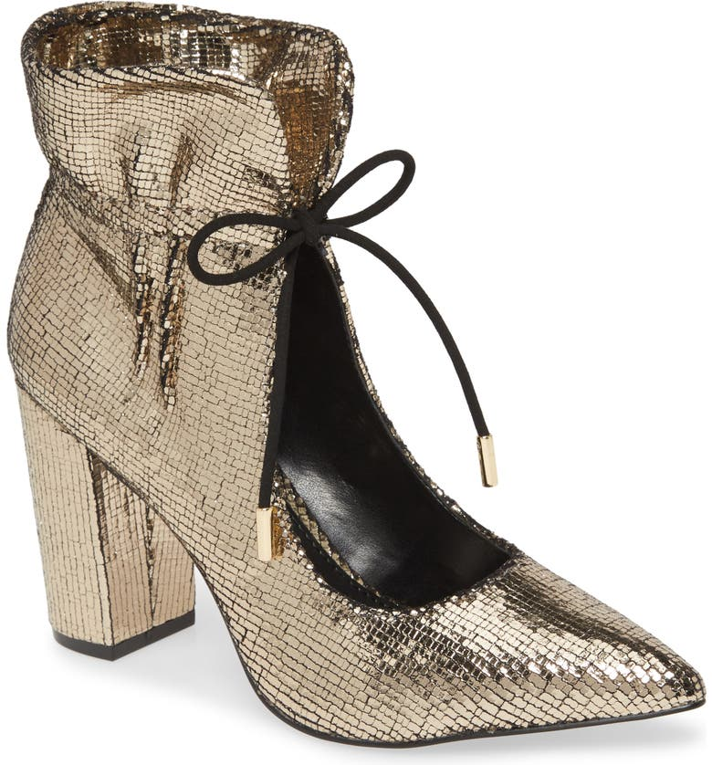 KATY PERRY Frann Pointy Toe Bootie, Main, color, GOLD