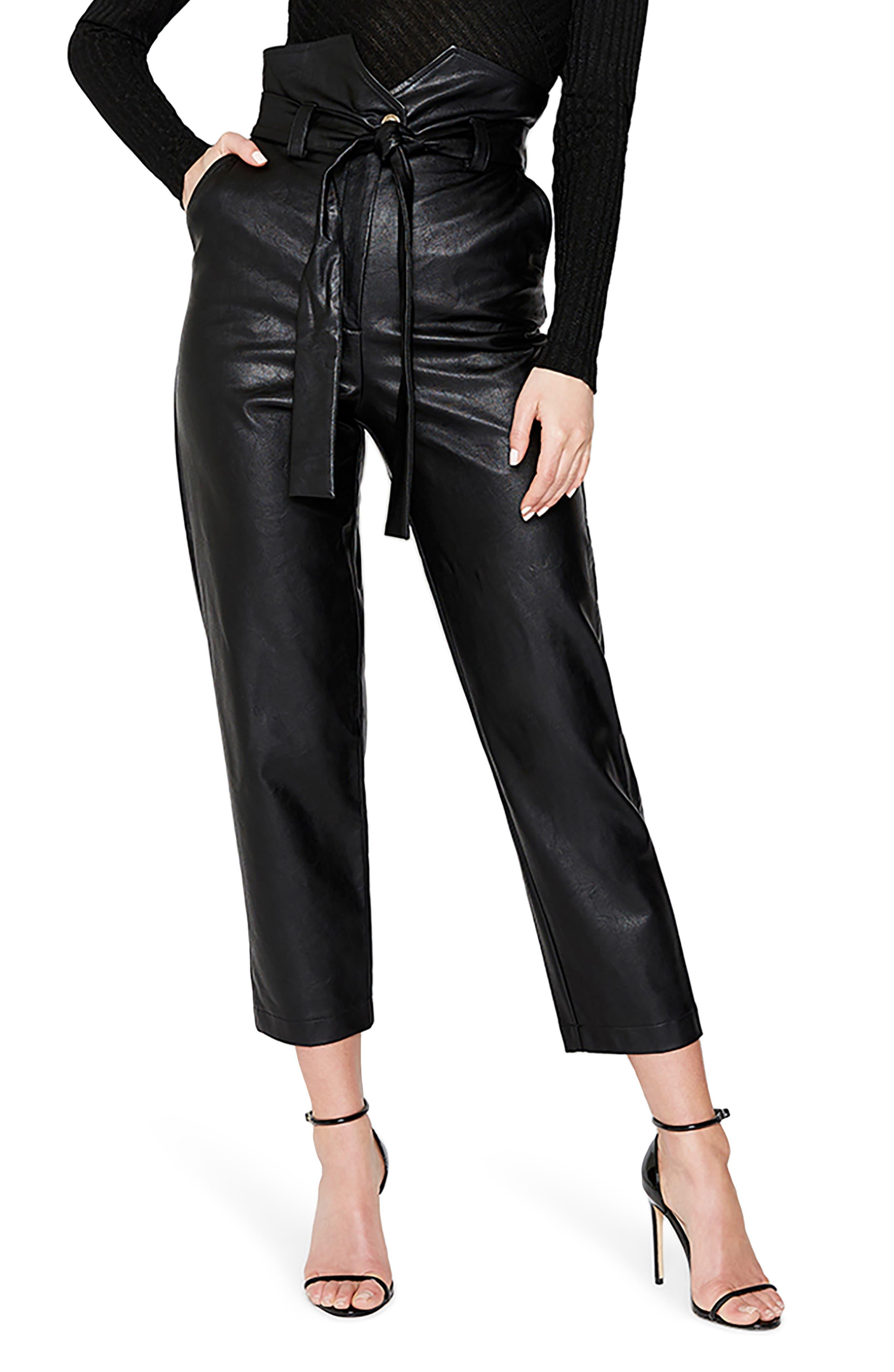 Debbie Textured Faux Leather Pants