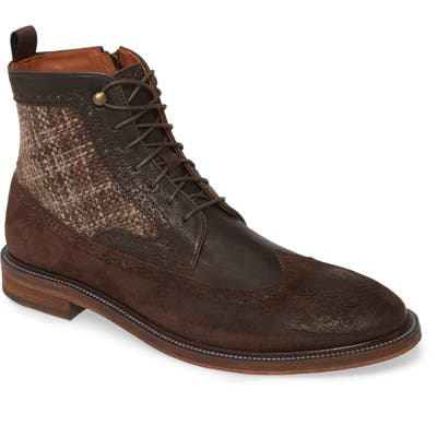 J & m 1850 Brewer Wingtip Boot- Brown
