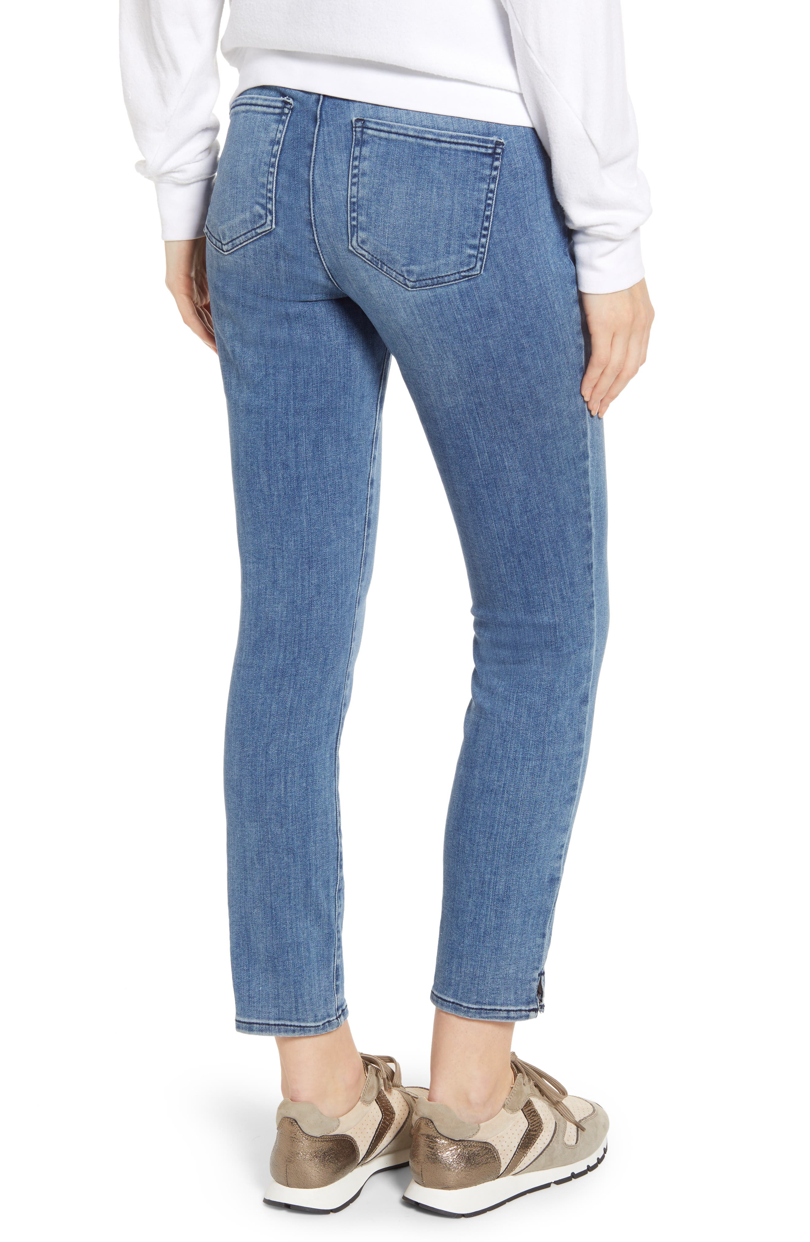 ,                             Alina Pull-On Ankle Skinny Jeans,                             Alternate thumbnail 2, color,                             AQUINO